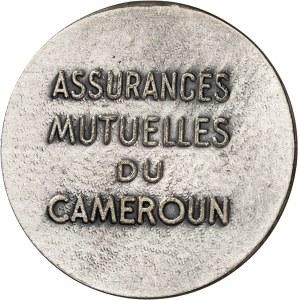 Ahmadou Ahidjo (1960-1982). Jeton des Assurances mutuelles du Cameroun ND (1964-1996), Paris.