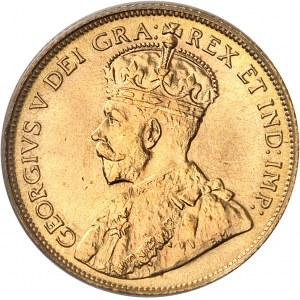 Georges V (1910-1936). 5 dollars, frappe specimen (SP) 1912, Ottawa.