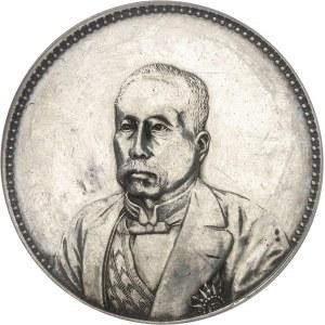 République de Chine (1912-1949). Dollar Xu Shichang, tranche lisse, avec attribution au Dr J. A. BUSSIÈRE An 10 (1921).