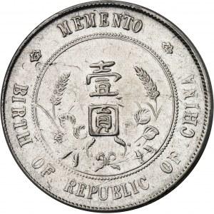 République de Chine (1912-1949). Dollar Sun Yat-Sen, naissance de la République de Chine ND (1927).