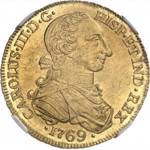Charles III (1759-1788). 8 escudos 1769 V, NR, Nuevo Reino (Santa Fé de Bogota).