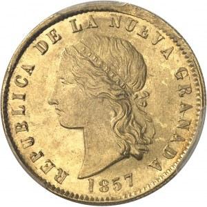 Nouvelle-Grenade (République de). 10 pesos 1857, Popayan.