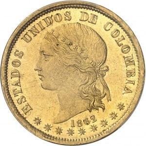 Colombie (États-Unis de) (1863-1886). 20 pesos 1862, Bogota.