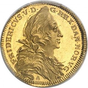 Frédéric V (1746-1766). Ducat à la galère de la Compagnie danoise des Indes orientales 1746, Copenhague.