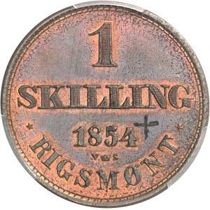 Frédéric VII (1848-1863). Essai de 1 skilling rigsmont 1854, Copenhague.