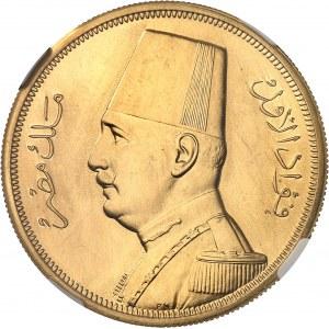 Fouad Ier (1917-1936). 500 piastres, Flan bruni (PROOF) AH 1351 (1932), Londres.