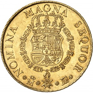 Ferdinand VI (1746-1759). 8 escudos, frappe au balancier 1749 JB, M, Madrid.