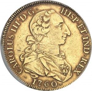 "Charles III (1759-1788). 8 escudos ""à la tête de rat"" 1760 JP, M, Madrid."