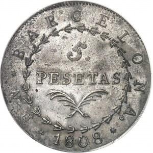 Joseph Napoléon (1808-1813). 5 pesetas 1808, Barcelone.