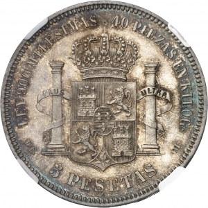 Alphonse XII (1874-1885). 5 pesetas 1875 (75), Madrid.