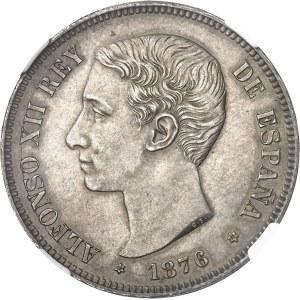 Alphonse XII (1874-1885). 5 pesetas 1876 (76), Madrid.