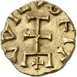 Quentovic, Ela monétaire. Trémissis ND (600-650), Quentovic.