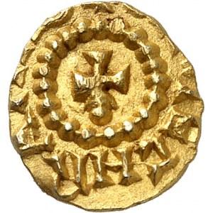 Rouen, Bertechramno monétaire. Trémissis ND (600-650), Rouen.