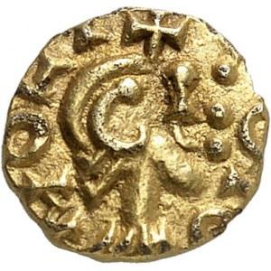 Rouen, Chagnoaldus monétaire. Trémissis ND (600-650), Rouen.