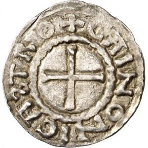 Robert Ier (922-923). Denier au buste de Saint Martin ND (920-925), Tours et Chinon.