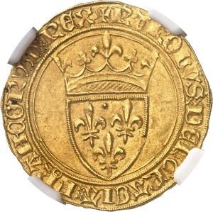 Charles VI (1380-1422). Écu d'or à la couronne, 4e émission ND (1380-1422), Paris.