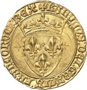 Charles VI (1380-1422). Écu d'or à la couronne, 5e émission ND (1411), Toulouse.