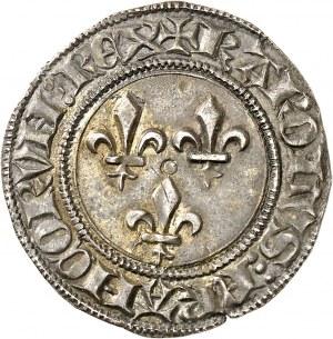 Charles VI (1380-1422). Gros aux lis ND (1413), Tournai.