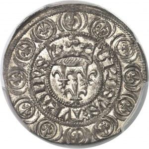 Charles VI (1380-1422). Gros aux lis sous une couronne ND (1413), Paris.
