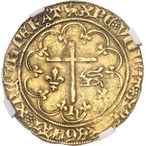 Henri VI d'Angleterre (1422-1453). Salut d'or 2e émission ND (1422), agneau pascal, Amiens.