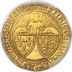 Henri VI d'Angleterre (1422-1453). Angelot d'or ND (1427), léopard, Rouen.