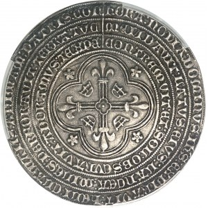 Charles VII (1422-1461). Médaille commémorative de l'expulsion des Anglais hors de France, dite calaisienne ND (1454), Paris.