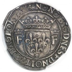 François Ier (1515-1547). Teston, 13e type ND (avant 1540), Lyon.