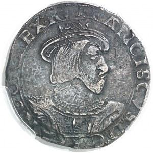 François Ier (1515-1547). Teston de Bretagne 6e type ND (1540-1547), Z, Rennes.