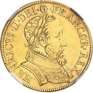 Henri II (1547-1559). Double Henri d'or à la Gallia ND (1552), Paris.