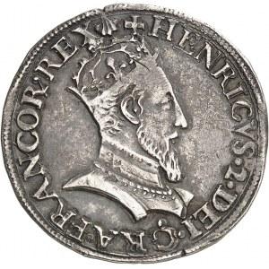 Henri II (1547-1559). Teston au buste couronné 1554, P, Dijon.