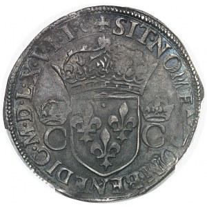 Charles IX (1560-1574). Teston, 2e type 1567, &, Aix-en-Provence.