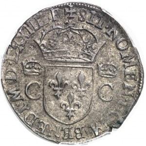 Charles IX (1560-1574). Teston, 8e type 1574, M, Toulouse.