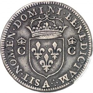 Charles IX (1560-1574). Piéfort de poids quadruple du demi-teston 1573, A, Paris.