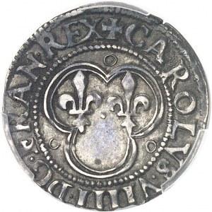 Charles IX (1560-1574). Essai d'argent du denier tournois ND (1560-1574), D, Lyon.