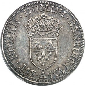 Henri III (1574-1589). Piéfort de poids quadruple du teston 1577, A, Paris.