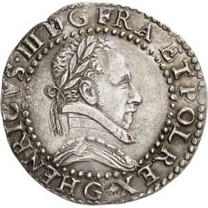 Henri III (1574-1589). Demi-franc au col plat 1587, G, Poitiers.