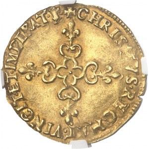 Charles X (1589-1594). Écu d'or au soleil 1er type 1591, S, Troyes.