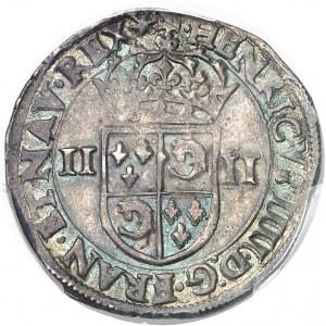 Henri IV (1589-1610). Quart d'écu du Dauphiné 1605, Z, Grenoble.