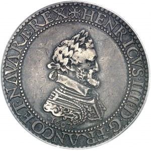 Henri IV (1589-1610). Piéfort de poids quadruple de l'essai du franc 1607, A, Paris.