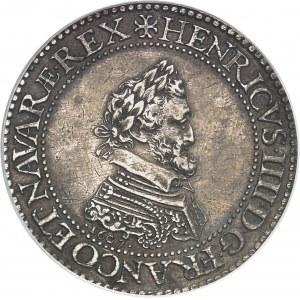 Henri IV (1589-1610). Piéfort de poids quadruple de l'essai du franc, Tranche inscrite en relief : PERENNITATI* PRINCIPIS* GALLIÆ* RESTITVRIS 1607, A, Paris.