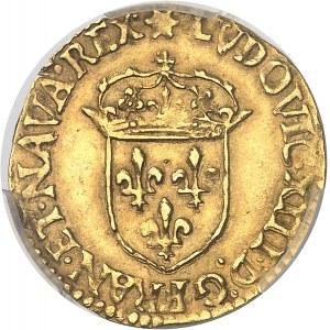 Louis XIII (1610-1643). Écu d'or au soleil, 2e type 1641, C, Saint-Lô.