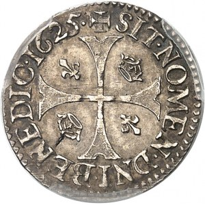 Louis XIII (1610-1643). Douzain d'argent au moulin 1625, A, Paris.