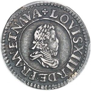 Louis XIII (1610-1643). Essai en argent du denier tournois 1613, D, Lyon.