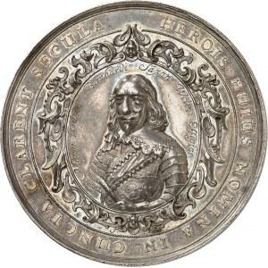 Louis XIII (1610-1643). Médaille, prise de Brisach (Vieux-Brisach ou Breisach) par Bernard de Saxe-Weimar, par Johann Blum 1638, Dresde.