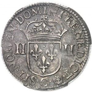 Louis XIV (1643-1715). Quart d'écu, 1er type 1645, C, Saint-Lô.