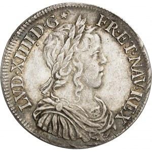 Louis XIV (1643-1715). Demi-écu à la mèche longue 1651/1641, A, Paris.