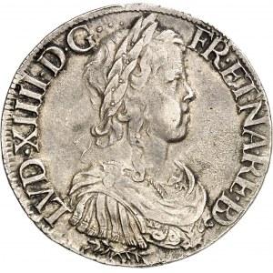 Louis XIV (1643-1715). Écu de Béarn à la mèche longue 1650, Pau.