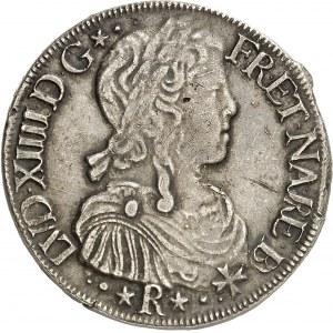 Louis XIV (1643-1715). Écu de Béarn à la mèche longue 1656, M, Morlaàs.