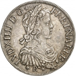 Louis XIV (1643-1715). Écu de Béarn à la mèche longue 1658, M, Morlaàs.