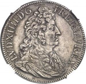 Louis XIV (1643-1715). Écu au jabot ou à la cravate, 2e type au petit R sous le buste 1683, A, Paris.